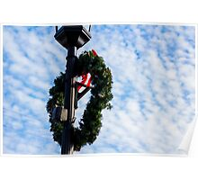 Bright Christmas Wreath Poster