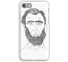 Abe Lincoln Portrait iPhone Case/Skin