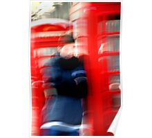 """""""London Phone Booth"""" Poster"""