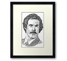 Ron Burgundy (Will Ferrell) Framed Print