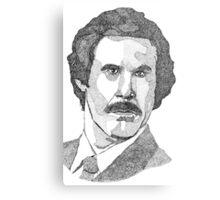 Ron Burgundy (Will Ferrell) Metal Print