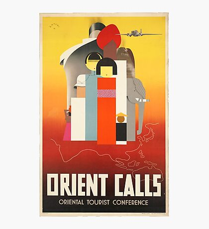 Vintage poster - Oriental Tourist Conference Photographic Print