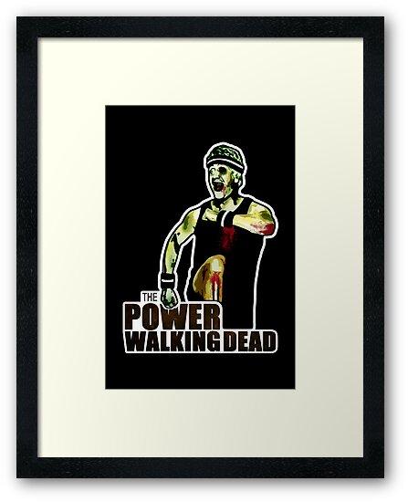 The Power Walking Dead (on Black) [ iPad / iPhone / iPod Case | Tshirt | Print ] by Damienne Bingham