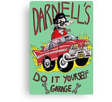 Darnell's do it yourself garage Canvas Print