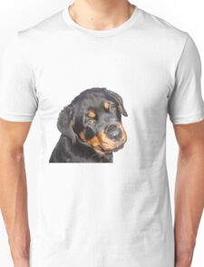 Female Rottweiler Puppy Making Eye Contact Vector Isolated Unisex T-Shirt