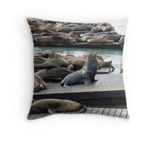 King of the Sea Throw Pillow