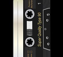 Audio Cassette Mix Tape Retro iPad Case / iPhone 5 Case / iPhone 4 Case / Samsung Galaxy Cases   by CroDesign