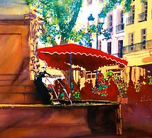 Flower Market - Aix by Donna Jill Witty
