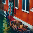 Gondola - Green & Rust by Donna Jill Witty
