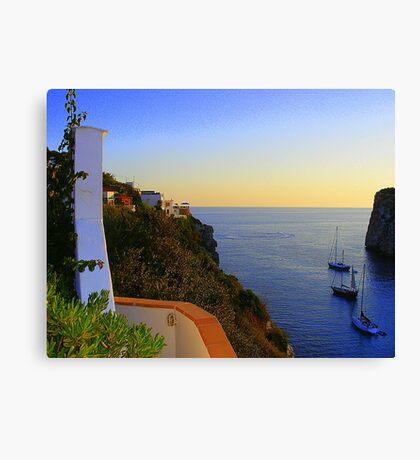 A Menorcan Sunset Canvas Print