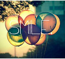 Smile Typography  Photographic Print
