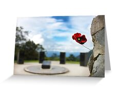 Poppy at Isurava Memorial  Greeting Card