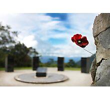Poppy at Isurava Memorial  Photographic Print