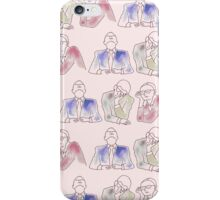 People bored at a meeting iPhone Case/Skin