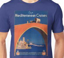 Vintage poster - Mediterranean Cruises Unisex T-Shirt