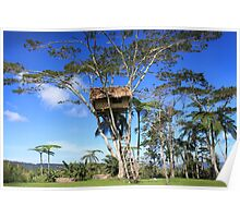Tree House, Kokoda  Poster