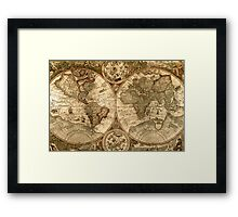 Ancient Map Framed Print