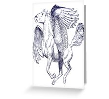 Pegasus, Vintage Engraved Illustration Greeting Card