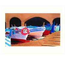 Le Barche (the boats) Art Print