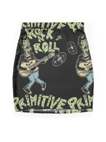 Primitive rock'n roll Mini Skirt