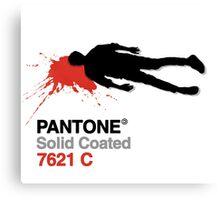 Pulp PANTONE &The Killed Men Canvas Print
