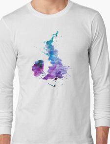 UK map in Watercolours Long Sleeve T-Shirt