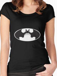 Totoro Batman Women's Fitted Scoop T-Shirt
