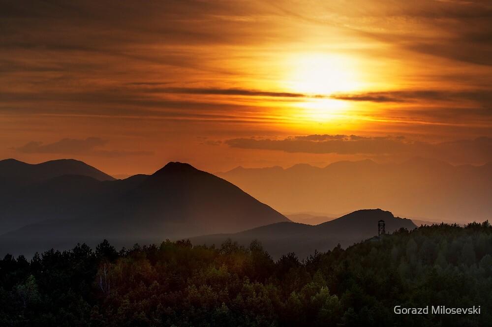 Fiery Sunset by Gorazd Milosevski