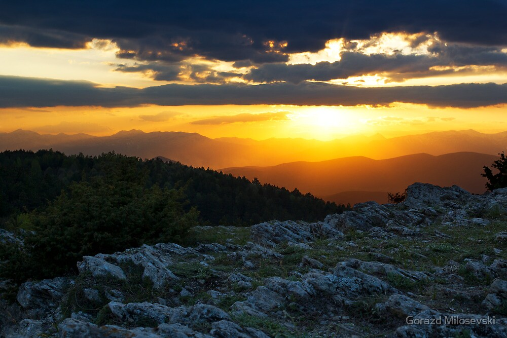 Mountainous Sunset by Gorazd Milosevski