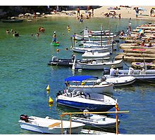 Bathing And Boating In Menorca Photographic Print