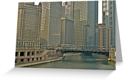 Some Chicago Architecture By The River by Scott Johnson