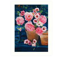 Peonies & Poppies Art Print