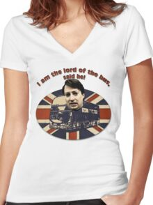 I am the Lord of the Bus, Said He! Peep Show Women's Fitted V-Neck T-Shirt