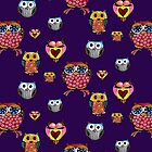 Owl Collage by Cherie Roe Dirksen