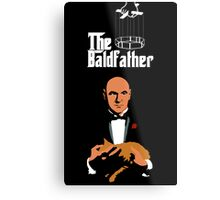 the bald father Metal Print