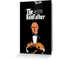 the bald father Greeting Card