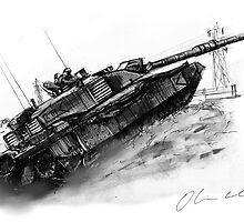 Challenger 2 tank by olivercook