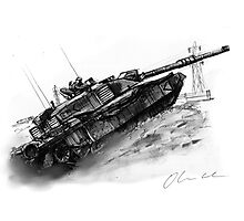 Challenger 2 tank Photographic Print