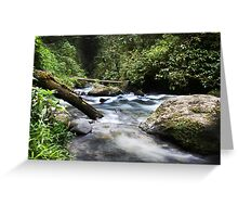 Flowing Vabuiagi River  Greeting Card