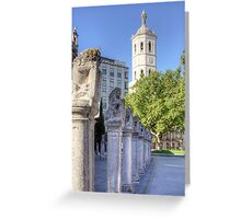 Valladolid Sculptures Greeting Card
