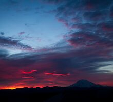 Sunrise on Rainier by James Duffin