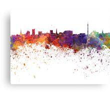 Dortmund skyline in watercolor background Canvas Print