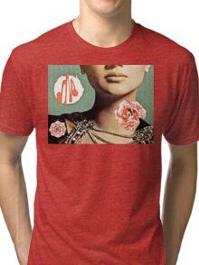 French Antique Fleur Tri-blend T-Shirt