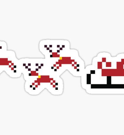 Pixel Sleigh Sticker