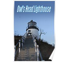 Owl's Head Lighthouse Poster