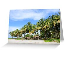 Buna Beach Palm Trees  Greeting Card
