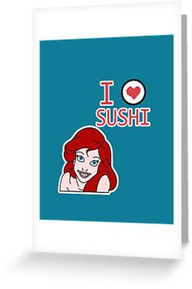 Ariel loves sushi by TatiDuarte