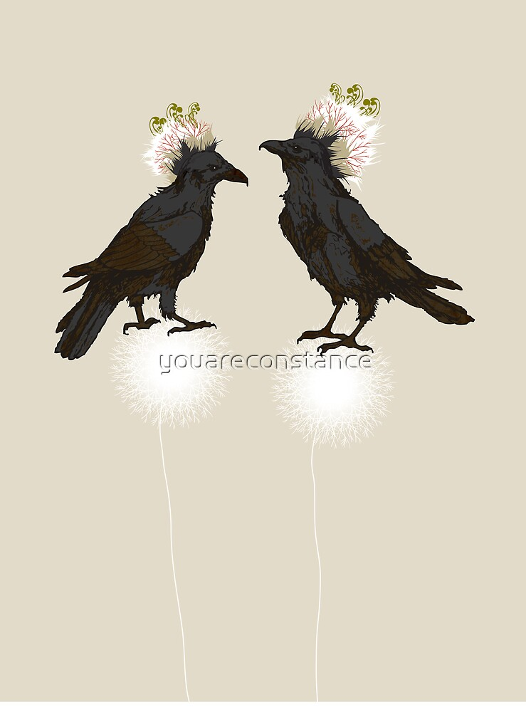 Perching Ravens by youareconstance