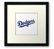 dodgers logo Framed Print