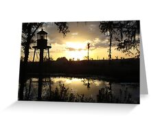 Econfina Creek Sunset, December 1, 2012 Greeting Card